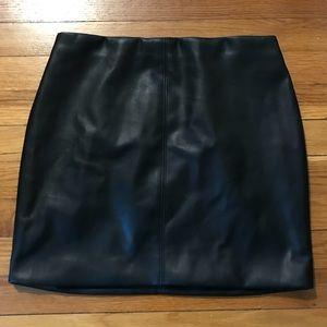 Hollister Leather Mini Skirt